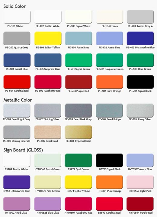 Color Chart For Aluco Master